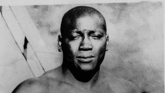 """President Donald Trump says he's considering """"a Full Pardon!"""" for boxing's first black heavyweight champion more than 100 years after Jack Johnson was convicted by all-white jury of """"immorality"""" for one of his relationships."""