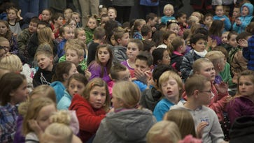 Students crowd the auditorium at Hurricane Elementary School in this December 2016 file photo.