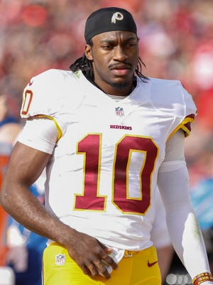 Redskins QB Robert Griffin III has just two TD passes this season.