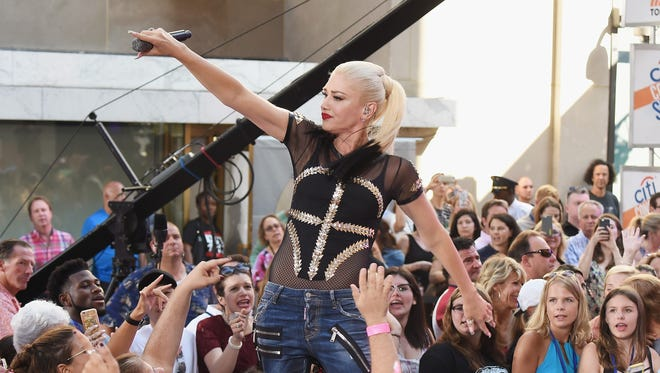 Singer Gwen Stefani will play DTE Energy Music Theatre on Aug. 2.