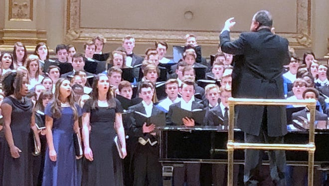 The Notre Dame High School choir performed last month at Carnegie Hall in New York City.
