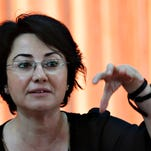Israeli Arab lawmaker Hanin Zoabi during last year's election campaign on March 2.