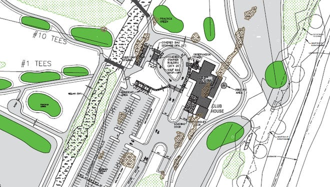 Ground layout of the proposed clubhouse at Kohler Co.'s planned golf course near the Town of Wilson.