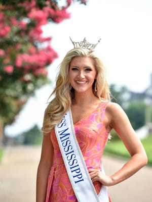 Miss Dixie Laura Lee Lewis, this year's winner of the 2016 Miss Mississippi Pageant, in Vicksburg Sunday.