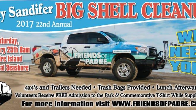 Big Shell Cleanup Feb. 25.