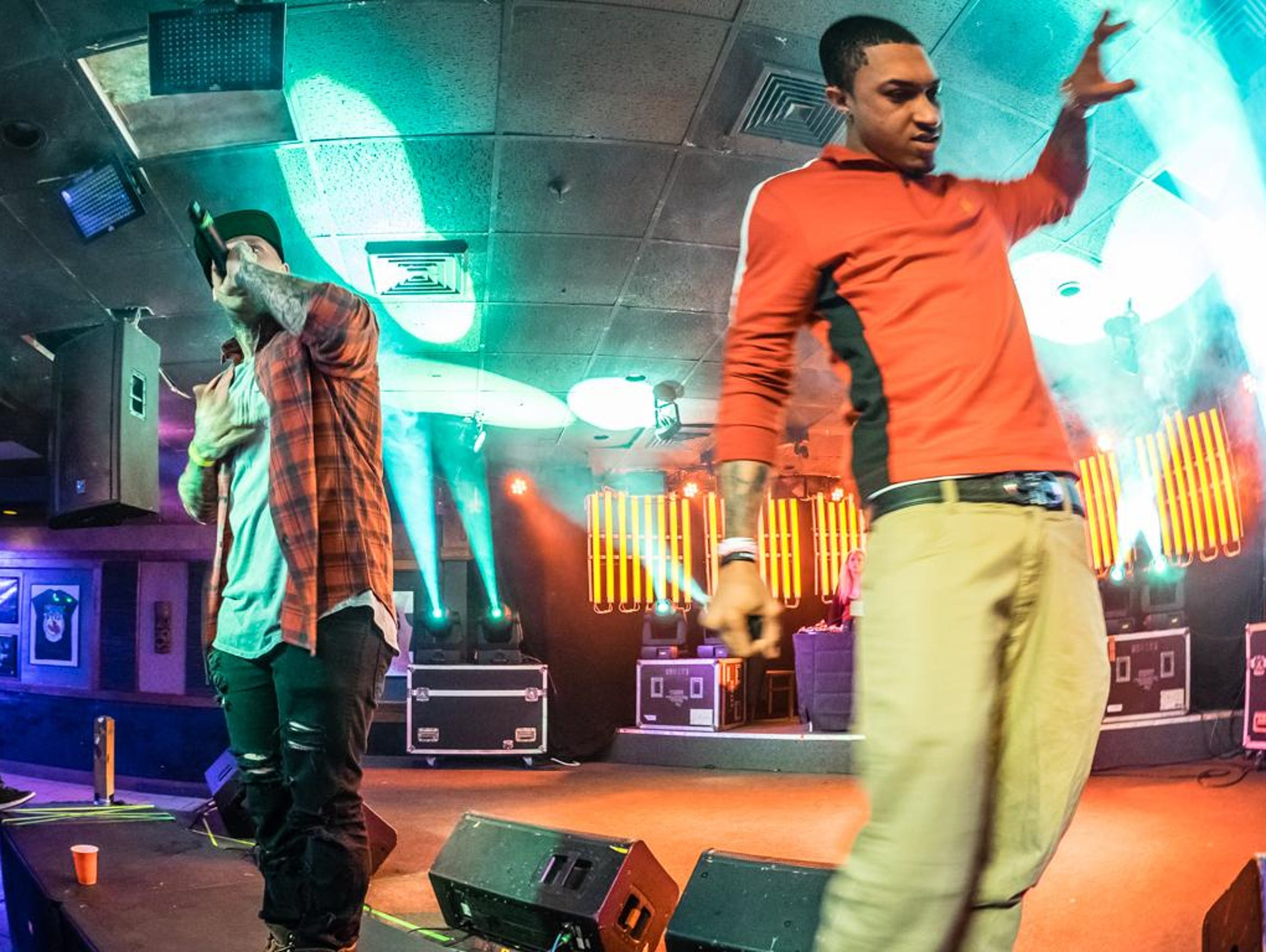 Hip-hop artists Bobby Capri and Roc Rizzy perform at