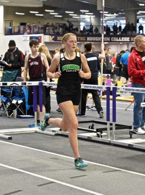 Fillmore senior Elsa Cole is in the top three on both the 1,500- and 1,000-meter indoor track Section V leaderboards.