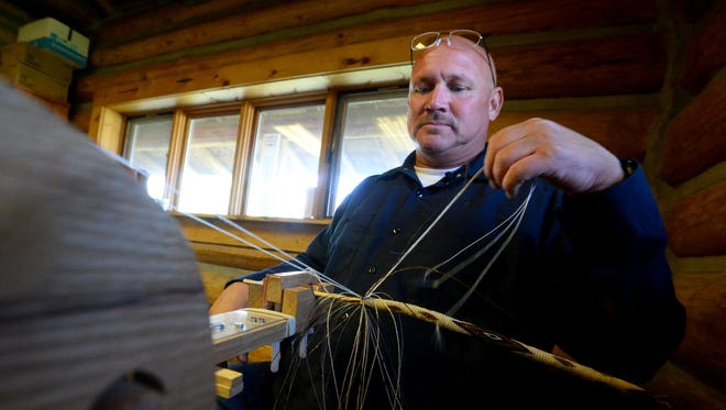 Robert Kazmierczak, a Montana State Prison inmate, learned to hitch horsehair while serving his sentence and now sells his work in the Montana State Prison Hobby Store in Deer Lodge.