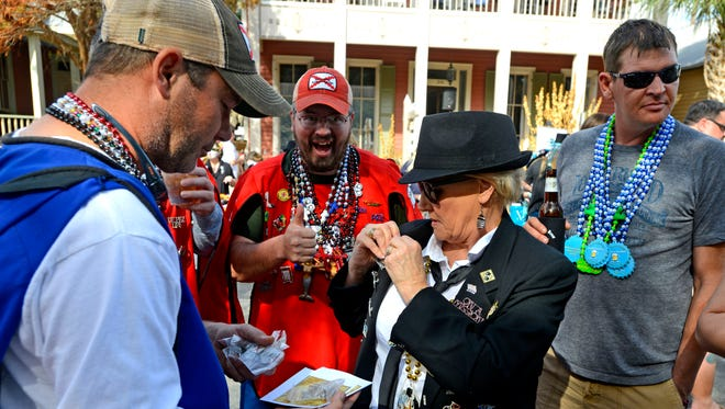 Local charities and Mardi Gras krewes are invited to showcase their krewes, pins and beads at the Krewe of Blues Pin & Bead Festival on Sunday, Jan. 14, Seville Square, 311 E. Government St.