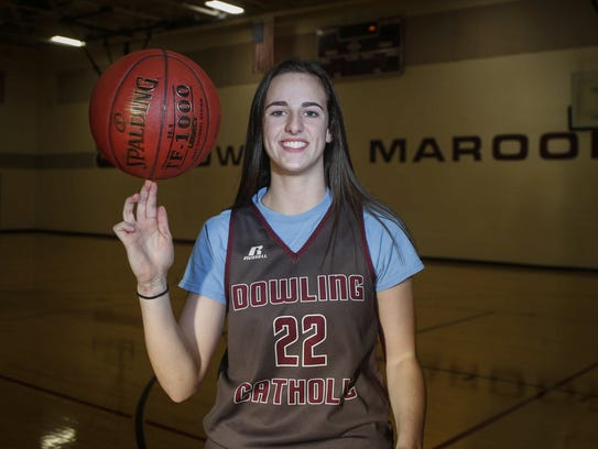West Des Moines Dowling Catholic's Caitlin Clark is