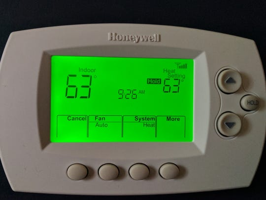 My Honeywell RTH6500 Wi-Fi series thermostat