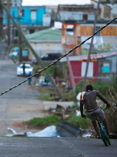 Residents of Portsmouth, Dominica, are still without power several weeks after Hurricane Maria swept through the island.