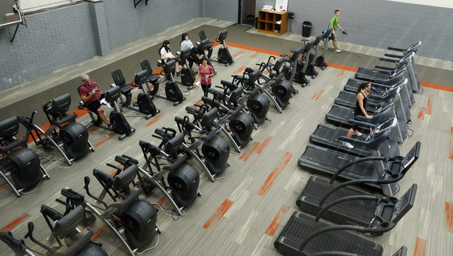 New machines in the in the renovated GreatLife Woodlake Athletic Club, May 21, 2015.