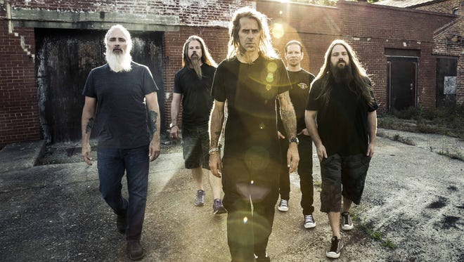 """Lamb of God returns to Phoenix in support of """"VII: Sturm und Drang,"""" the first album since vocalist Randy Blythe's (center) release from a Czech Republic prison."""