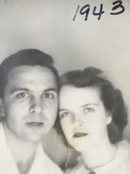 Ted and Bea Cromer were married in 1942. They celebrate