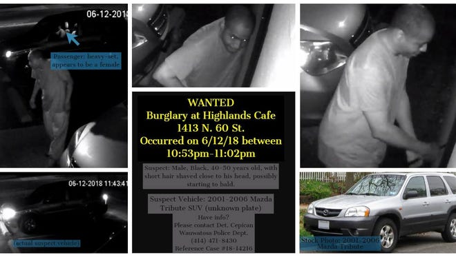 Wauwatosa Police posted an alert on their Facebook page asking for helping finding who was responsible for a burglary at Highlands Cafe, 1413 N. 60 St.on June 12.
