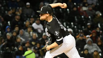 Danny Farquhar during Friday's game.