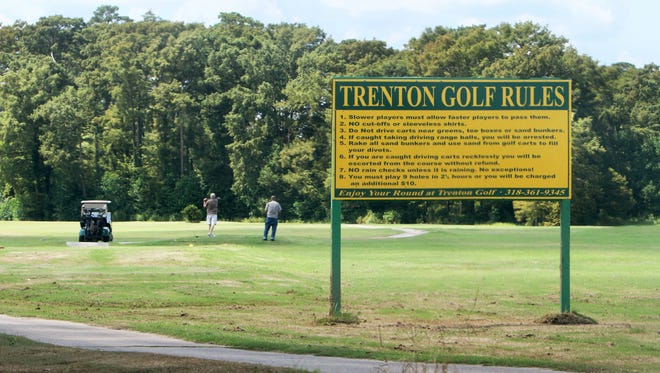 People play a game of golf Thursday afternoon at the Trenton Street Golf Course in West Monroe. The course will close on December 31 after its current operators declined to renew their lease.