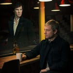 Sherlock (Benedict Cumberbatch) is alive and well and so is the show, co-starring Martin Freeman.