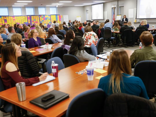 A large group attended the strategic planning meeting