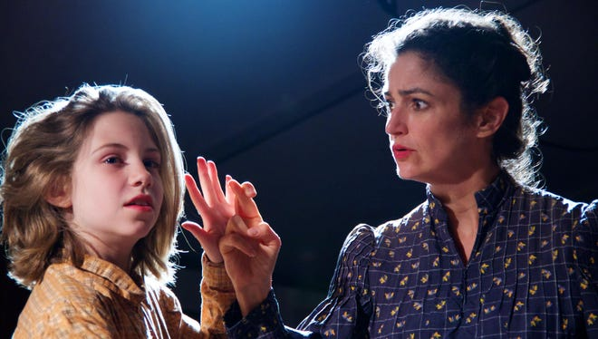 """Macy Molleur, left, and Marla Schaffel act in """"The Miracle Worker."""""""