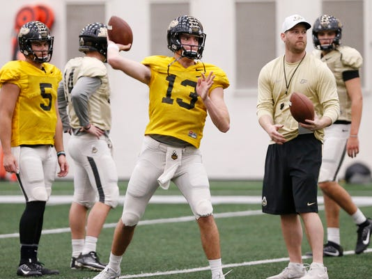 LAF Purdue spring football practice day 13