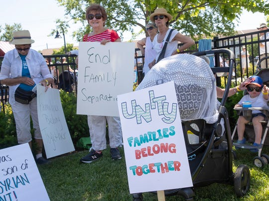 Hundreds turned out for Keep Families Together Rally in Asbury Park on June 30, 2018.