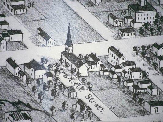 Manitowoc 1868 (first church building)