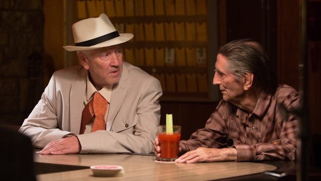 """Howard (David Lynch, left) and Lucky (Harry Dean Stanton) pass the time in """"Lucky."""""""