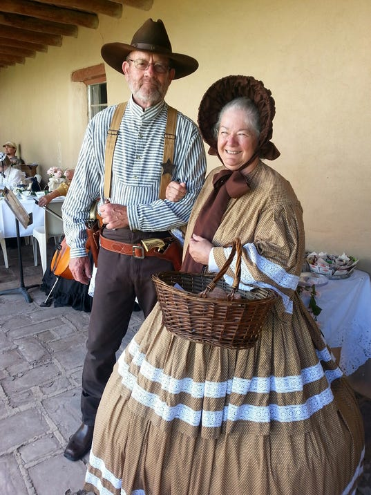 period dress at fort stanton