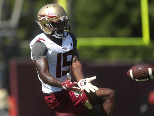 FSU's Tamorrion Terry reaches out for a catch on their