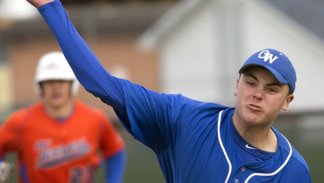 Michael McBriar is 3-2 with an 0.81 earned run average for the Oshkosh West baseball team this season.