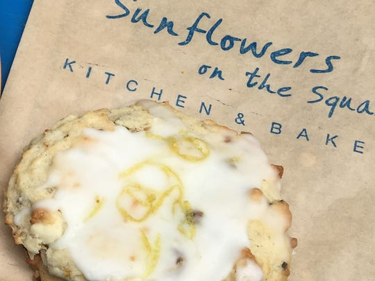 Limoncello cookies topped with local citrus zest are on the menu at Sunflowers on the Square in Ventura. The bakery will close in February.