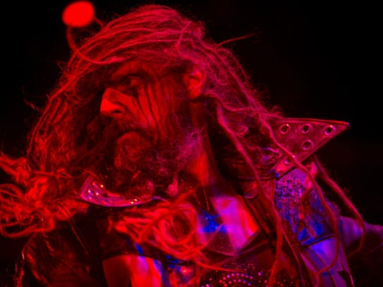 Rob Zombie performs outside Rob Zombie's Great American