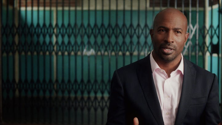 """CNN contributor and activist Van Jones as seen in the documentary """"13th,"""" which explores the history of U.S. race relations and the prison system."""
