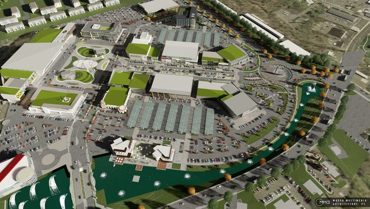Rendering of Freedom Pointe, a mixed-use development planned for the Eatontown side of Fort Monmouth.