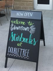 The new Downtown Starbucks  in the Hilton DoubleTree