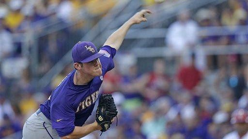 LSU pitcher Jared Poche' will pitch the Friday night game for the Tigers against Missouri this weekend.