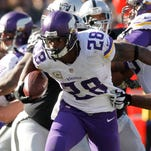 Adrian Peterson posted his record-tying sixth career