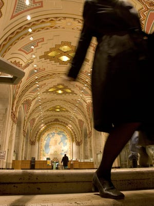 The mezzanine of the Guardian Building is shown in this 2004 file photo.