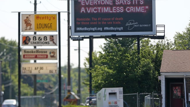 The Indiana Attorney General's Office used a billboard campaign last year to discourage the purchase of commercial sex.