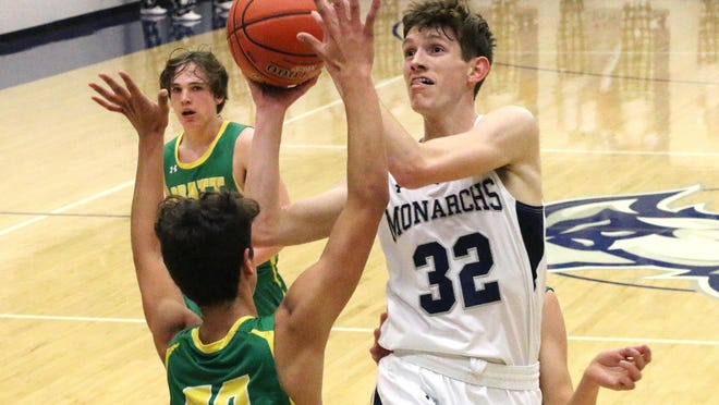 Jackson Schulte leads the returners for the TMP boys after averaging nearly 15 points a game last year.