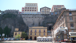 The Grand Hotel Vittoria, perched precariously on the