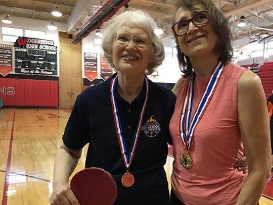PSRC Table Tennis Team gold medalistsCally Hanawalt