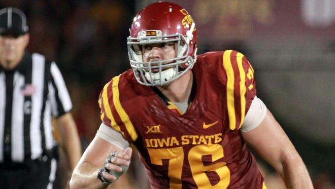 Iowa State center Jamison Lalk has emerged as a bright spot on the team's offensive line.