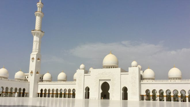 The Sheikh Zayed Grand Mosque in Abu Dhabi, one of the largest mosques in the world, located in the capital of UAE.