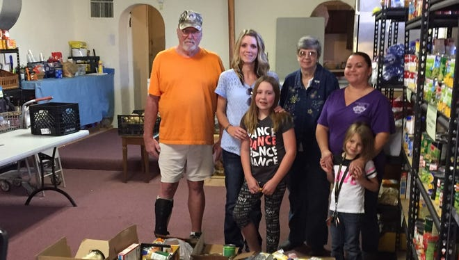 La Luz Elementary students donated non-perishable food items to Our Lady of the Light Food Pantry in La Luz.