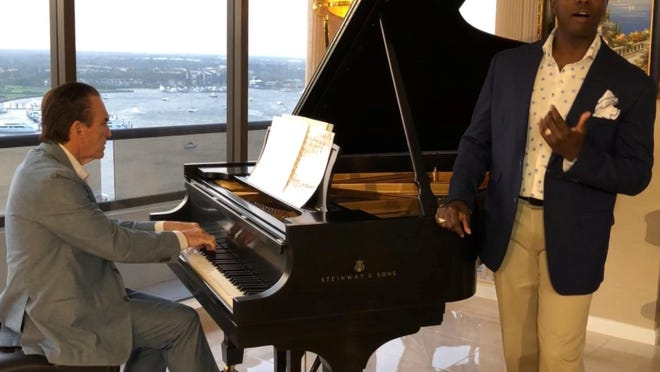 Pianist Anthony DiResta and singer Terrance Mason recorded ''Misty'' in their North Palm Beach living room for the Palm Beach Symphony.