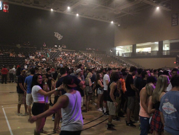 Fans starts to pack The Venue at UCF Friday for Waka