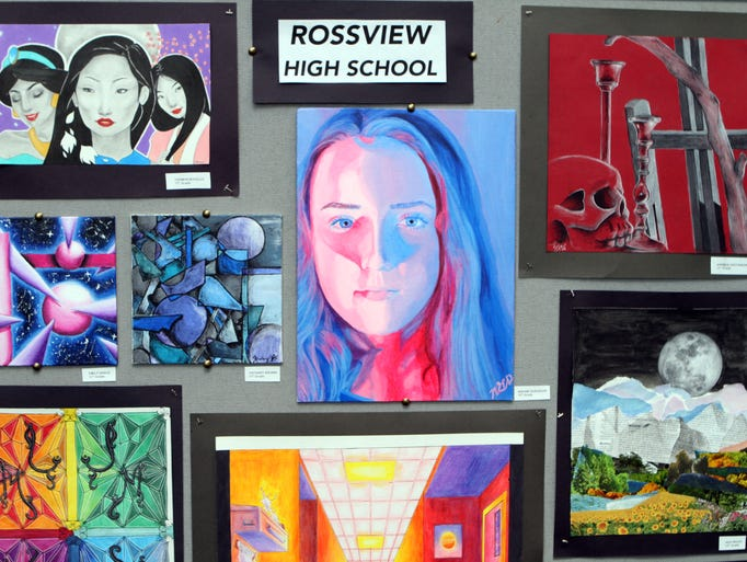 Some of the art on display at the Clarksville-Montgomery